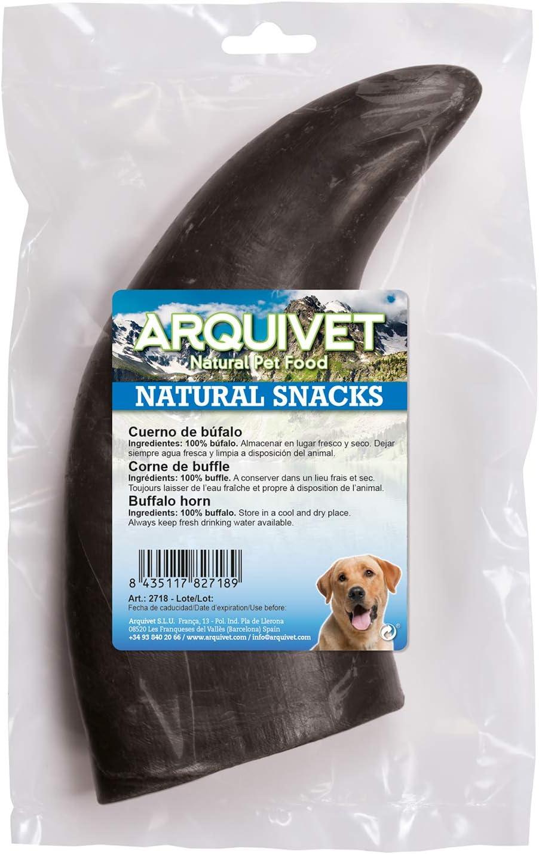 Arquivet Cuerno de búfalo para perros - Asta de búfalo masticable - Snack natural para perros - Snack dental de cuerno de búfalo - Chuches y golosinas ...
