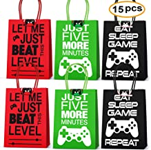 Video Game Party Supplies Favors,Gaming Party Bags For Video Game Birthday Party Supplies Decorations,Game Of Party Bags Supplies Decorations Set Of 15
