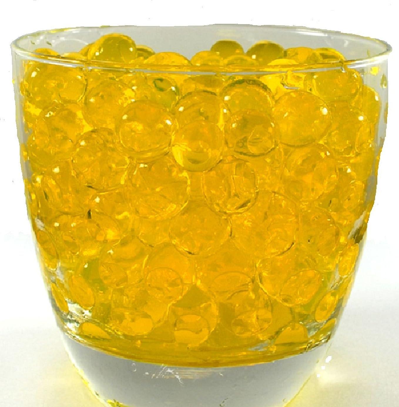 JellyBeadZ Water Bead Gel 4 Ounce 6000 beads - Golden Yellow
