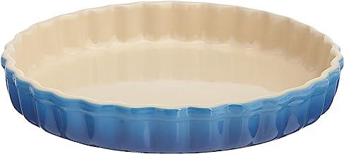 Le Creuset PG0600-2459 Stoneware Tart Dish, 1.45-Quart, Marseille