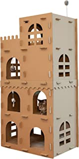 Furhaven Pet Cat Furniture - Tiger Tough High Castle Tower Playground Apartment Hideout Corrugated Cat Scratcher with Catn...