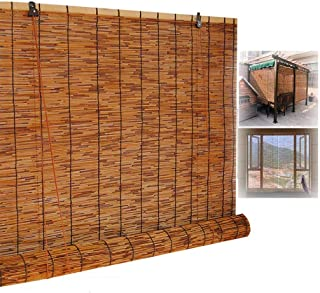 Persianas de bambú natural para ventanas, persianas enrollables para exteriores, cortinas de caña romana con elevación, pa...