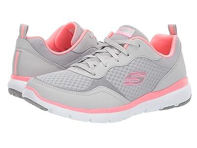 SKECHERS Flex Appeal 3.0-Go Forward (Light Grey/Hot pink) Women
