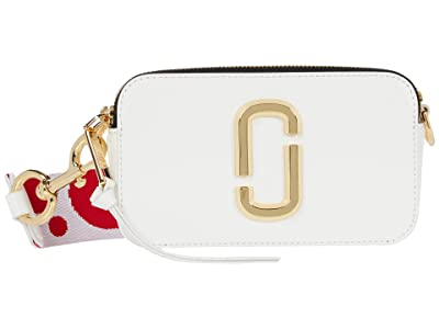 Marc Jacobs Snapshot Flag Crossbody (Brilliant White) Cross Body Handbags