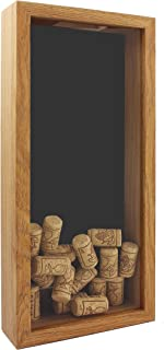 Space Art Deco, 6x14 Shadow Box Display Case - Top Loading Wood Frame - Drink Cap,Ticket Stubs, Airline Tickets,Stamps and More Holder/Collector - Wall Mounting - Swivel Tabs (6x14,Brown)