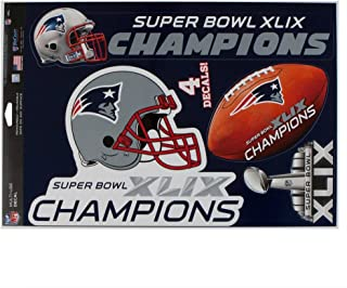 WinCraft New England Patriots Official NFL 11 inch x 17 inch Super Bowl 49 Champions MultiUse Car Decal Sheet by 004277