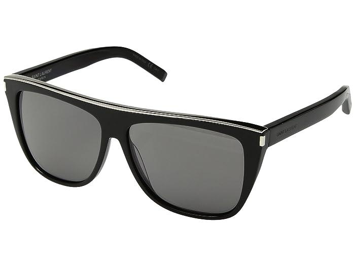 Saint Laurent SL 1 Combi (Black/Grey) Fashion Sunglasses