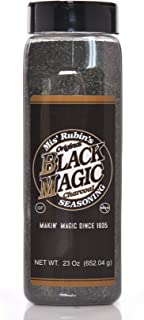 Charcoal Seasoning Dry BBQ Rub (Large) - 23 oz. Black Magic Charcoal Grill Seasoning Best for Briskets, BBQ Burger, Ribeyes, Pulled Pork, Beef Steaks, Pot Roast, and Grilled Fish