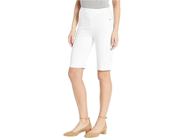 Fdj French Dressing Jeans D-lux Denim Pull-on Bermuda In White Shorts