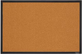 Quartet Corkboard, Framed Bulletin Board, 2 x 3 feet Cork Board, Black Frame (MWDB2436-BK)