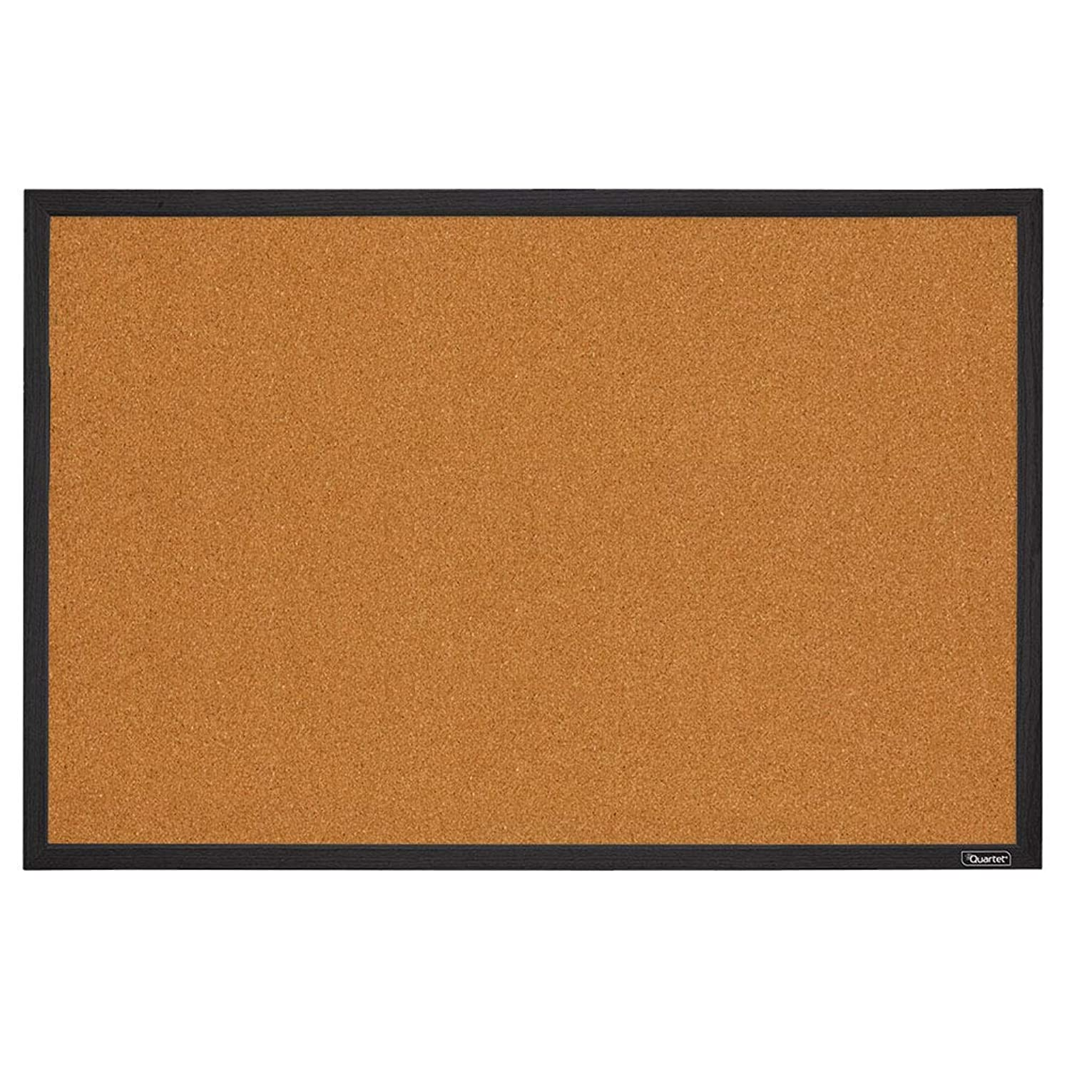 Quartet Corkboard, Framed Bulletin Board, 2' x 3' Cork Board, Black Frame (MWDB2436-BK)