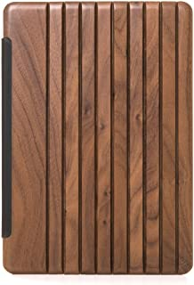 Woodcessories - Case Compatible with iPad 2017 of Real Wood, EcoGuard (Walnut/Silver)