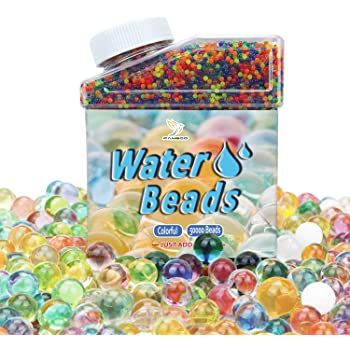 Included 10 Balloons 50000 PCS Gel Soil Water Crystal Beads Non Toxic Sensory Mixed Water Balls Silicone Orbs For Plant Vase Filler for Home Decorations Bivan Colorful Water Beads