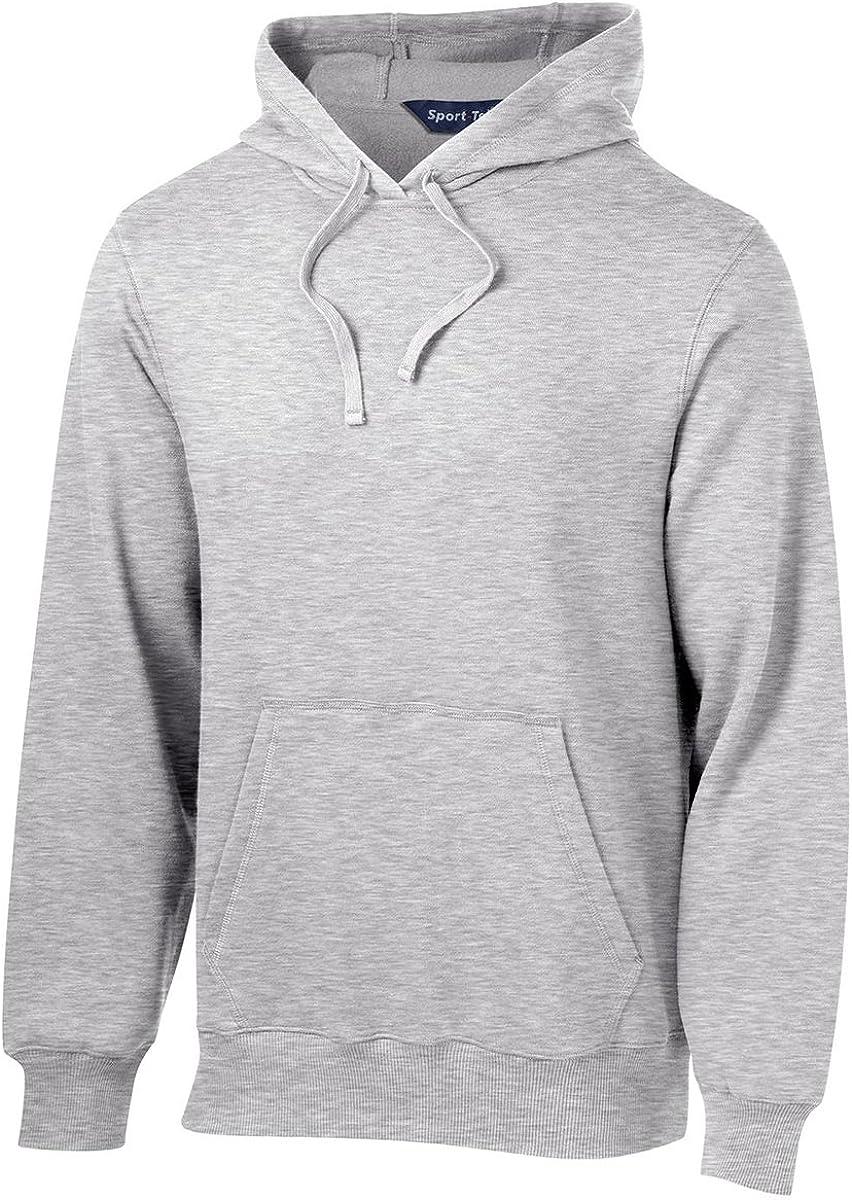 Sport-Tek Men's Big And Tall Hooded Sweatshirt_Athletic Hthr_Large Tall