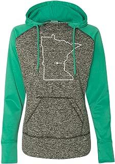 Womens Minnesota Home Hoodie - MN Colorblock Sweatshirt by Hometown Hoodies