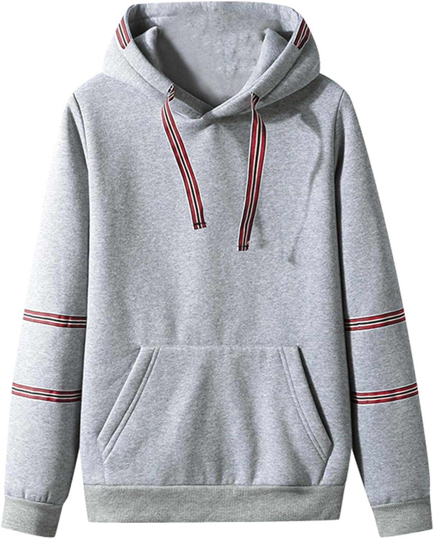 Hoodies for Men Men's Fashion Hoodies Sweatshirts Autumn Slim Casual Patchwork Hooded Long Sleeve Sweatshirts Top Blouse