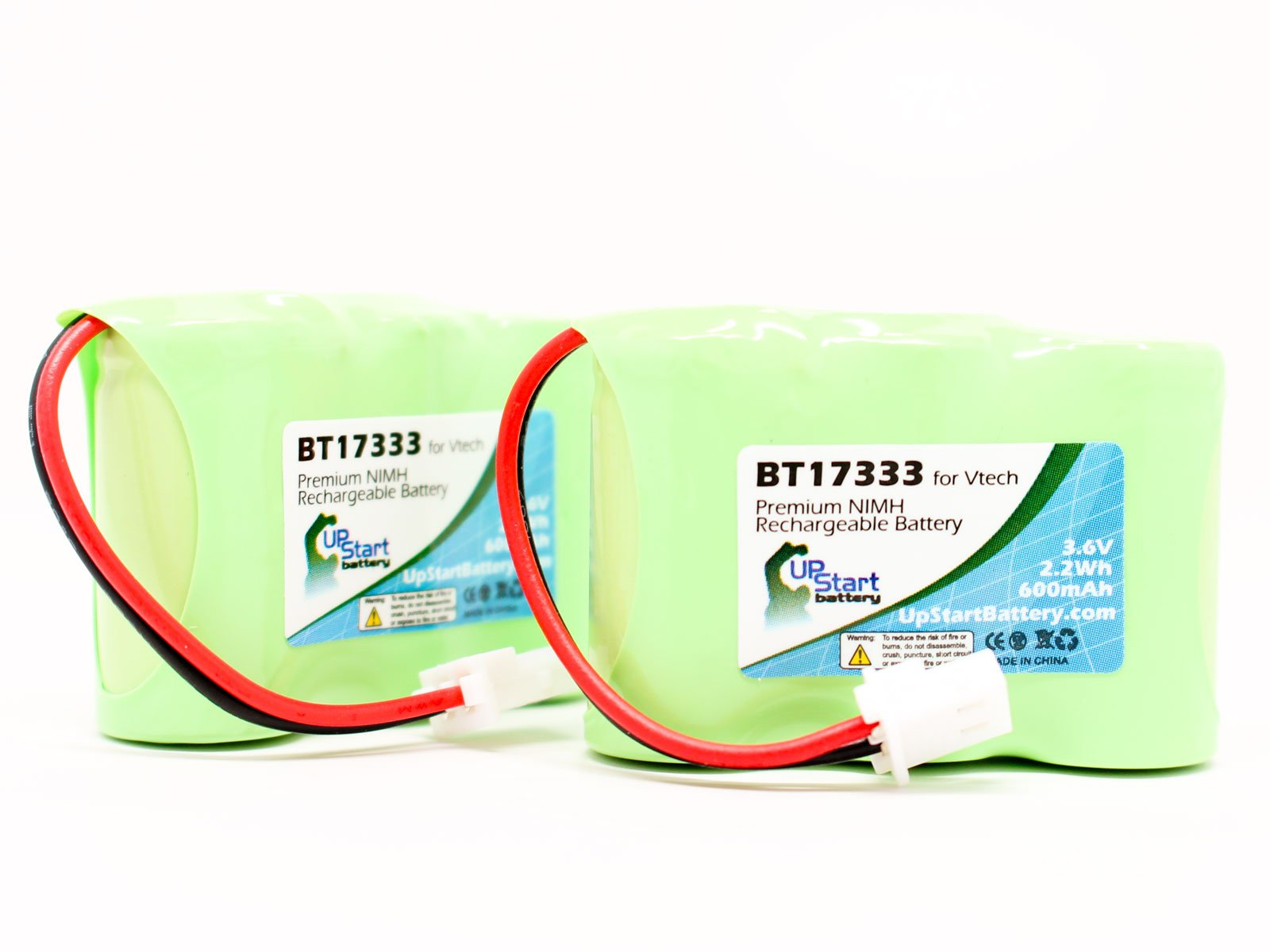 600mAh 3.6V NI-MH 2 Pack Replacement for VTech BT27233 Battery Compatible with VTech Cordless Phone Battery