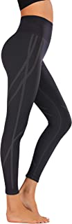 Helisopus Women's High Waist Yoga Legging Active Tummy Control Gym Pants Ultre Stretch Workout Running Pants