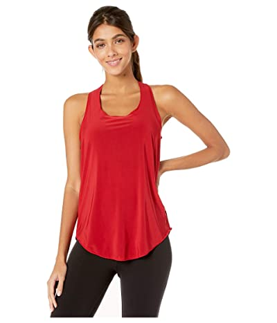 Onzie Glossy Flow Tank Top (Red) Women
