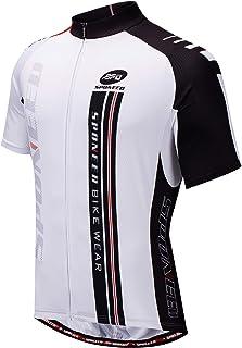 سترة رجالي من sponeed لركوب الدراجات قمصان ركوب الدراجات بأكمام قصيرة ملابس الدراجة سحاب كامل وجيوب