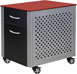 Pitstop Furniture Red File Cabinet