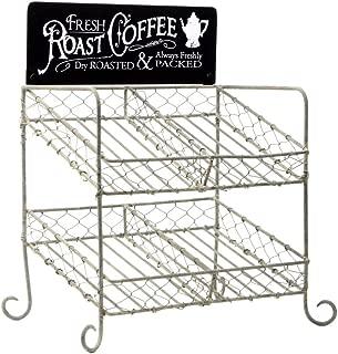 Rustic Chicken Wire K-Cup Holder Caddy Coffee Pod Storage Basket