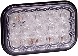 """Maxxima M42213YCL 15 LED Amber Clear Lens 5"""" Rectangular Park/Front/Turn Light"""