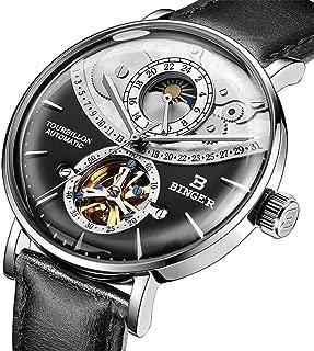 HZC Switzerland Automatic Watch Men Sapphire Japan Movement Skeleton Mechanical Men Watches Full Steel Sapphire Waterproof YR1603