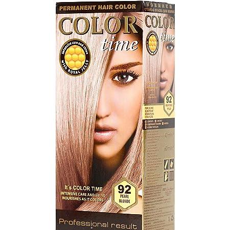 Color time, tinte permanente para el cabello de color rubio perla 92