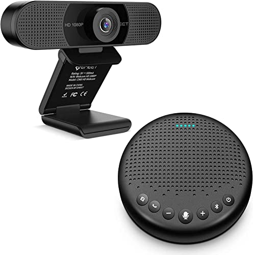 new arrival Home Office Set from Bluetooth Speakerphone Luna Black + 1080P HD Streming Webcam C960, Computer Speakers with Microphone, Plug popular and Play Webcam Idea for new arrival Home Office online