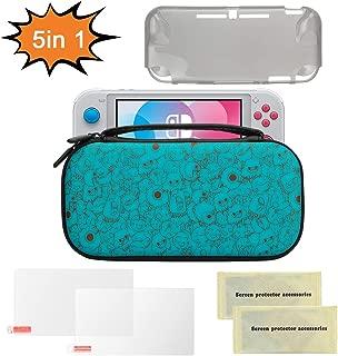 Nintendo Switch Lite ケース, 液晶保護シート付き, TPUケース付き, ハードケース 収納バッグ, ゲームカード 保護カバー, ニンテンドー スウィッチ ケース, EVA PU材料 ゲーム機収納袋 任天堂スイッチ キャリングケース (青)