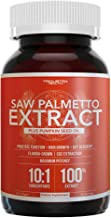 Saw Palmetto Extract – 10X Potency, Pharmaceutical Grade Strength |Plus Pumpkin Seed Oil | Supports Prostate Health, Relieves Urination Issues, Supports Hair Growth, DHT Blocker – 60 Softgels