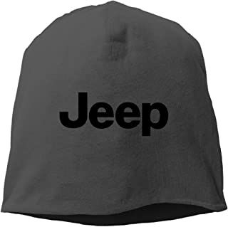 LETgogo Jeep Logo Adjustable Winter Knit Cap Beanie Cap Skull Cap for Unisex