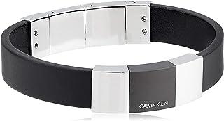 Men's Strong Black Leather Adjustable Bracelet