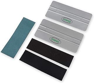 FOSHIO Automotive Vinyl Wraps Grey 2PCS 6Inch Card Squeegee with 3pcs Fabric Squeegee Felt