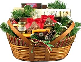 Gift Basket Village Holiday Meat and Cheese Gift Basket with Wisconsin Sausages and Cheeses for Christmas (Large), 10 Pounds