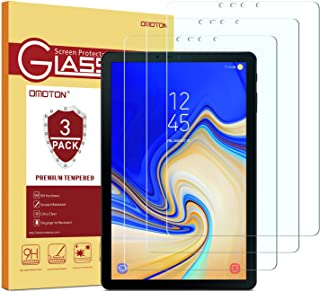 OMOTON[3 Pack] Screen Protector for Samsung Galaxy Tab S4 10.5 inch, Tempered Glass/High Definition/Bubble Free Screen Protector for Tab S4 10.5 inch (SM-T830 / SM-T837 / SM-T835) 2018 Released