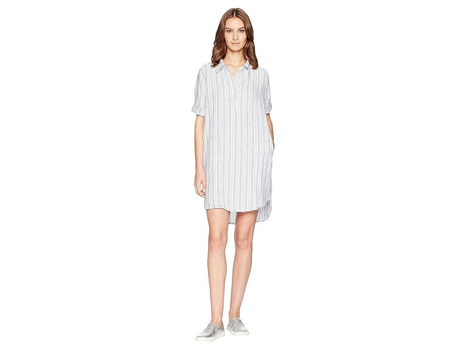 Allen Allen Boxy Pullover Dress (White) Women
