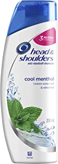 Head & Shoulders Cool Menthol Anti-Dandruff Shampoo, 200 ml