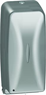 Bradley 6A00-110000 Diplomat Stainless Steel Surface Mounted Soap Dispenser, 27 oz. Capacity, 4-5/8