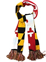 Maryland Flag Winter Knitted Scarf