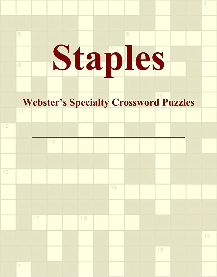 ベットフレキシブル用心Staples - Webster's Specialty Crossword Puzzles