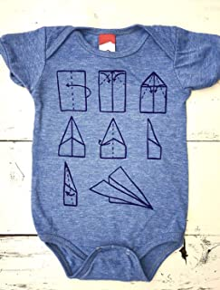 Paper Airplane baby onesie. Paper Plane baby one piece. Origami baby.