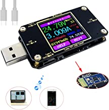 MakerHawk USB Power Meter Tester, Bluetooth USB Tester, Type-C Current and Voltage Monitor, USB Safety Tester, PD Battery Capacity Meter, Digital Color LCD Display Multimeter, USB Voltmeter Ammeter