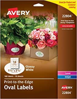 Avery Oval Labels for Laser & Inkjet Printers, 1.5