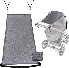 Universal Sonnensegel für Kinderwagen Babywanne - reißfester flexibler Baby Sonnenschutz Kinderwagen mit UV Schutz 50 Staubdicht Sonnendach für Kinderwagen und Buggy