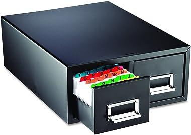 "STEELMASTER Drawer Card Cabinet Holds 3,000 5 x 8 cards, 18 2/5"" x 16"" x 7 1/4"" (263F5816DBLA)"