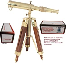 US HANDICRAFTS Vintage Brass Telescope on Tripod Stand use DF Lens Antique Desktop..