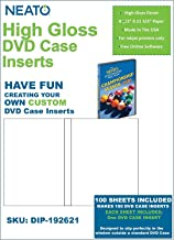 Neato High Gloss DVD Case Inserts – 100 Sheets to Make 100 DVD Case Inserts - Our Online Design Software is Included - Registration Code is On Package