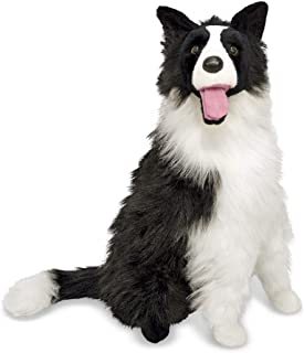 """Melissa & Doug Border Collie Dog Giant Stuffed Animal (Lifelike Plush, 27"""" H x 22"""" W x 14"""" L, Great Gift for Girls and Boys - Best for 3, 4, 5 Year Olds and Up)"""